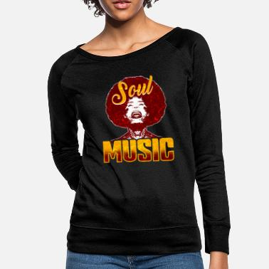 Soul Soul Music 80s Retro Black Music Gift - Women's Crewneck Sweatshirt