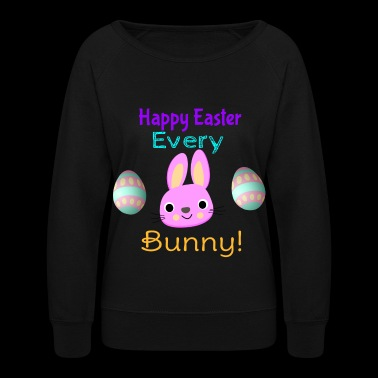 Easter Bunny Design - Women's Crewneck Sweatshirt