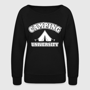 camping university - Women's Crewneck Sweatshirt
