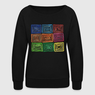 Colorful square - Women's Crewneck Sweatshirt