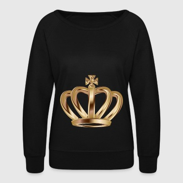 Monarch VIP king gold Crown vector illustration - Women's Crewneck Sweatshirt