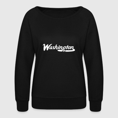 Washington D.C. Vintage Logo - Women's Crewneck Sweatshirt