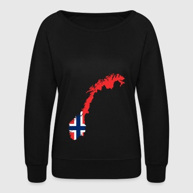 Norway flag - Women's Crewneck Sweatshirt