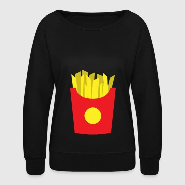 french fries - Women's Crewneck Sweatshirt