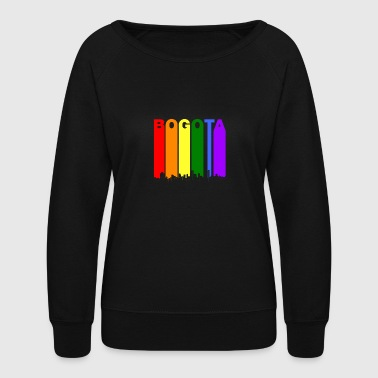 Bogota Colombia Skyline Rainbow LGBT Gay Pride - Women's Crewneck Sweatshirt