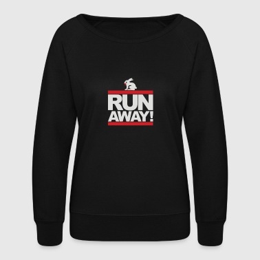 Run Away Rabbit - Women's Crewneck Sweatshirt
