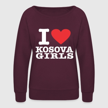 Kosova I love Kosova Girls - Women's Crewneck Sweatshirt