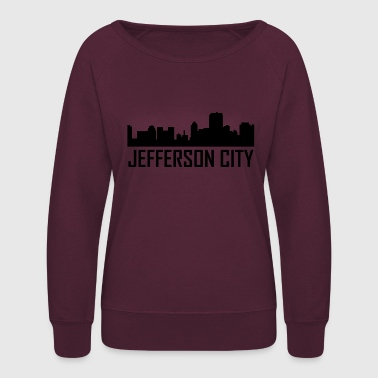 Missouri Jefferson City Missouri City Skyline - Women's Crewneck Sweatshirt