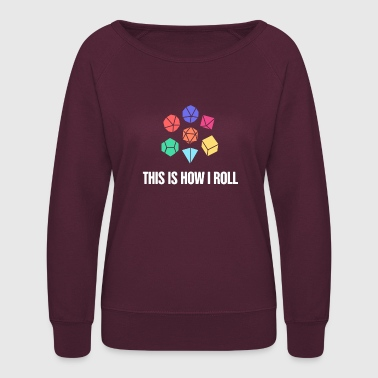 Board Game d20 Roleplaying Game | Board Gaming - Women's Crewneck Sweatshirt