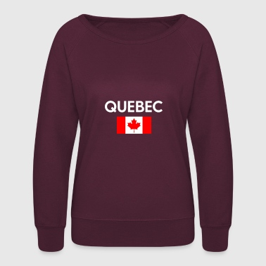 Quebec Canada Flag Proud Eastern Canadian Province - Women's Crewneck Sweatshirt