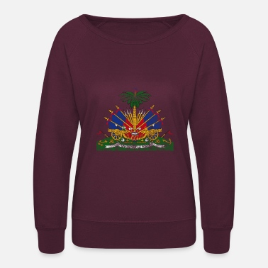 Haiti Haitian Coat of Arms Haiti Symbol - Women's Crewneck Sweatshirt