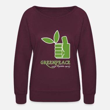 Greenpeace Greenpeace 100 renewable energy - Women's Crewneck Sweatshirt