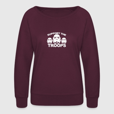 Troops TROOPS SUPPORT - Women's Crewneck Sweatshirt