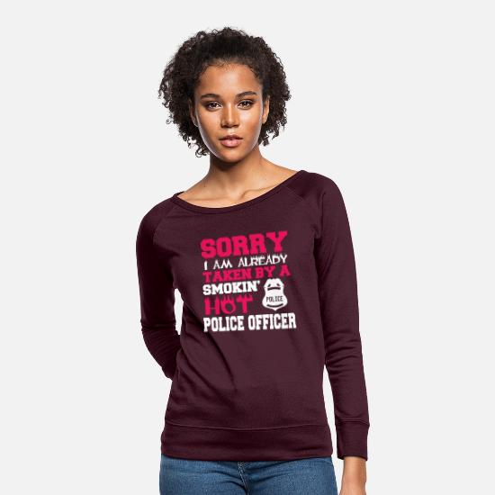 Police Inspector Hoodies & Sweatshirts - Already Taken by a Police Officer - Women's Crewneck Sweatshirt plum