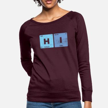 Periodic Table Of The Elements Hi Checmical Elements Periodic Table - Women's Crewneck Sweatshirt