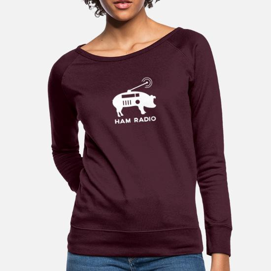 db0da99aa308c Ham Radio Pig Shirt Women's Crewneck Sweatshirt | Spreadshirt