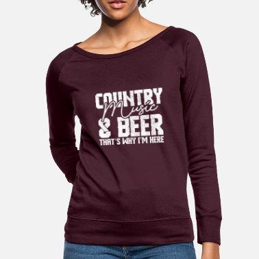 Country Country Music And Beer - Women's Crewneck Sweatshirt