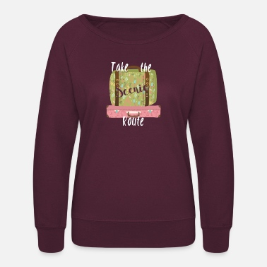Scenic Take the Scenic Route - Women's Crewneck Sweatshirt
