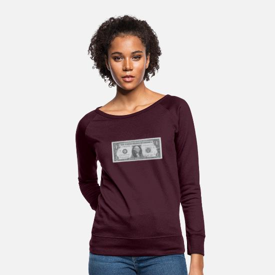 Dollar Hoodies & Sweatshirts - Dollar bill - Women's Crewneck Sweatshirt plum