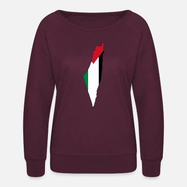 Palestinian Flag map of Palestine Palestinian - Women's Crewneck Sweatshirt