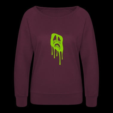 slimy grimace - halloween - Women's Crewneck Sweatshirt