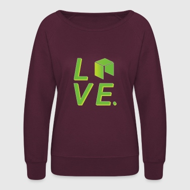 Neo Cryptocurrency logo - Women's Crewneck Sweatshirt