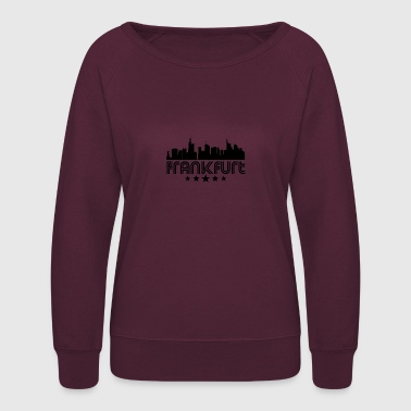 Retro Frankfurt Skyline - Women's Crewneck Sweatshirt