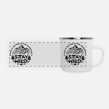 CamperMug Stay Wild US - Panoramic Enamel Mug