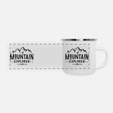 CamperMug Mountain Ex US - Panoramic Enamel Mug