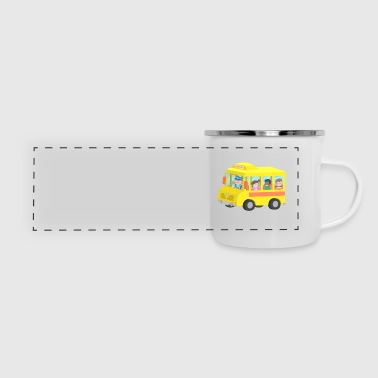 Yellow School Bus - Panoramic Camper Mug