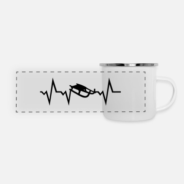 Austria Sledding Heartbeat - Panoramic Camper Mug