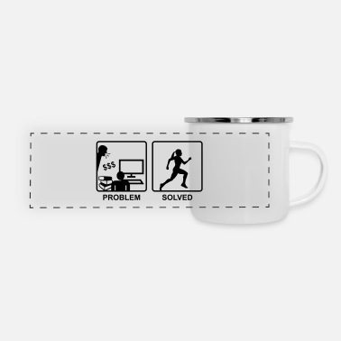 Running solves Problems - Woman - Panoramic Camper Mug
