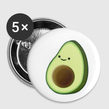 Cute Avocado Drawing - Small Buttons