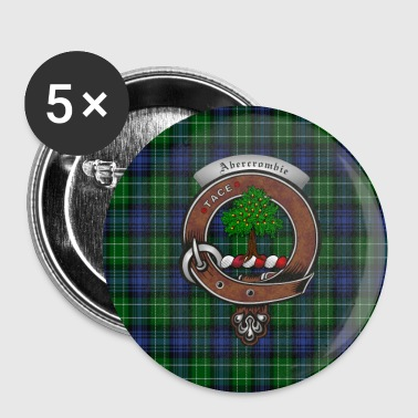 Abercrombie Clan Badge with Tartan - Small Buttons