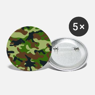 Camo Woodland Camo - Small Buttons