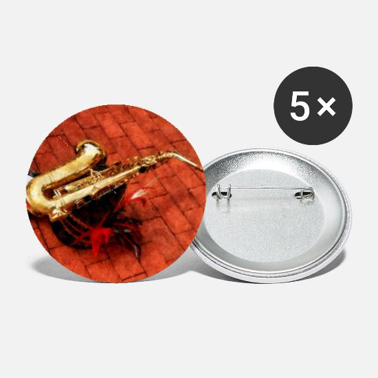 Band Buttons - Saxophone Before Parade - Small Buttons white