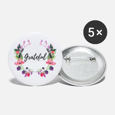 Easter Grateful Floral - Small Buttons
