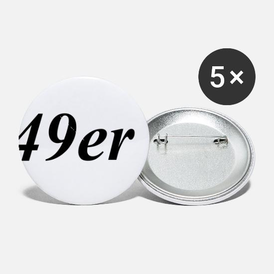 49ers Buttons - 49er sailing class logo - Small Buttons white