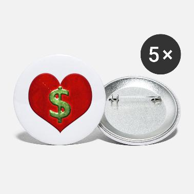 Money Logo Love for Money Logo - Small Buttons