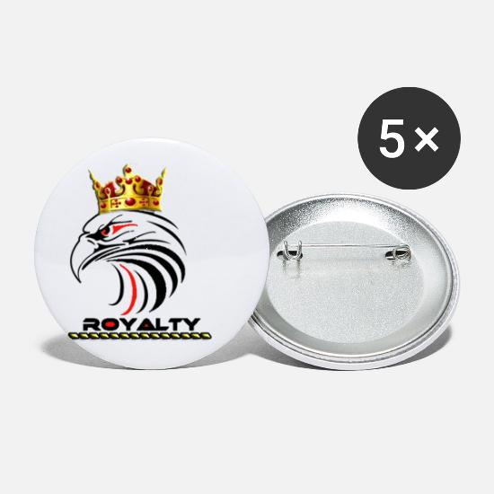 Golden Crown Buttons - Royalty - Small Buttons white