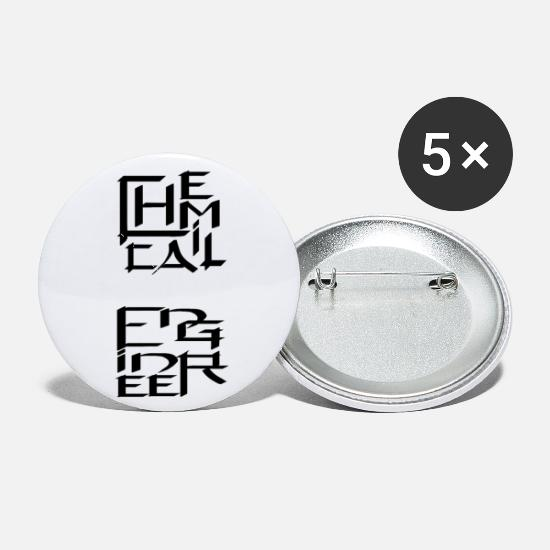Chemistry Buttons - Chemical Engineer Character - Small Buttons white