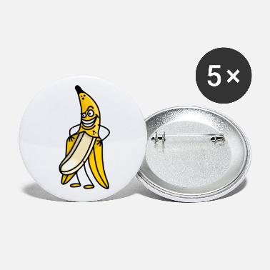 Streaker Funny banana flashing stripper streaker cartoon - Small Buttons