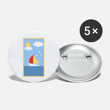 Sail Boat sail boat - Small Buttons