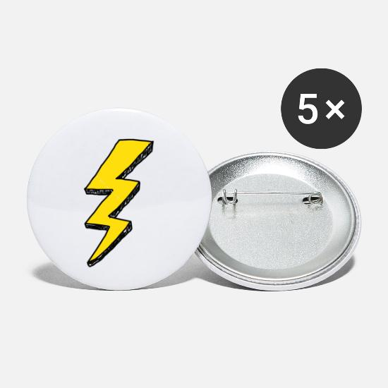 Flash Buttons - flash lightning gordon thunder - Small Buttons white