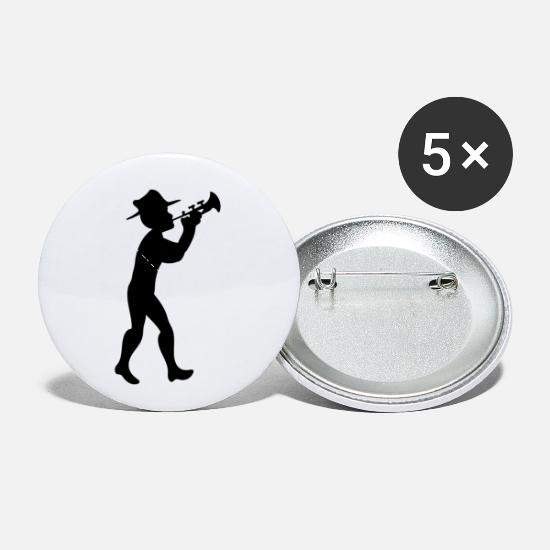 Trumpet Buttons - Trumpet Player Musician Jazz Music - Small Buttons white