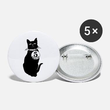 Cent black cat 5 cents - Small Buttons