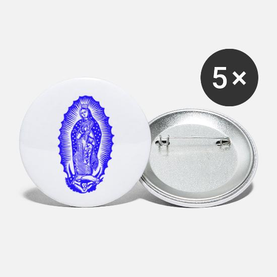 Christ Buttons - mary - Small Buttons white