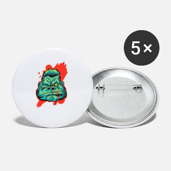 Injured Buttons - gorilla injured - Small Buttons white