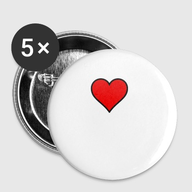 RED HEART - Small Buttons