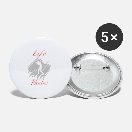 Photographer Buttons - Photograph - Small Buttons white